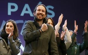 Ισπανία, Γροθιά, Ραχόι, Podemos, ispania, grothia, rachoi, Podemos