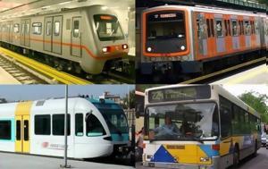 Απεργία ΜΜΜ Μετρό Λεωφορεία ΗΣΑΠ Τραμ 265, Πότε, apergia mmm metro leoforeia isap tram 265, pote