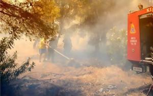 Η πυροσβεστικη δινει μαχη να μην καψει η φωτια τα ιστορικα μαστιχοχωρια