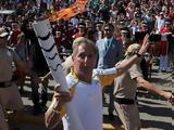 Διαδηλωτές, Ολυμπιακή Φλόγα, Ρίο,diadilotes, olybiaki floga, rio