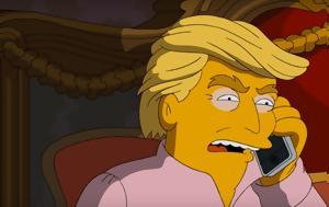 Simpsons, Τραμπ, Αδόλφος Χίτλερ, Simpsons, trab, adolfos chitler