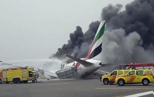 Φλεγόμενο, Boeing 777, Ντουμπάι, flegomeno, Boeing 777, ntoubai