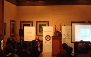 Κωνσταντία Σωτηρίου, Ρίτσαρντ Φλάναγκαν, Athens Prize, Literature, konstantia sotiriou, ritsarnt flanagkan, Athens Prize, Literature