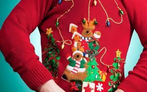 10 χριστουγεννιάτικα πουλόβερ που είναι ίσως (λίγο) υπερβολικά στολισμένα