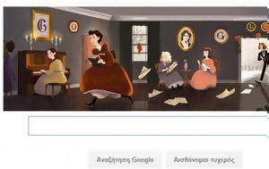 Google, Αμερικανίδα Λουίζα Μέι Άλκοτ, Google, amerikanida louiza mei alkot