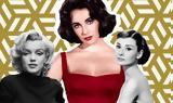 Elizabeth Taylor Grace Kelly Audrey Hepburn Marilyn Monroe, Ποια,Elizabeth Taylor Grace Kelly Audrey Hepburn Marilyn Monroe, poia