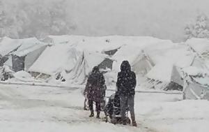 Στο έλεος του καιρού οι πρόσφυγες