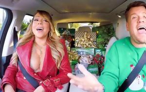 Μαράια Κάρεϊ, Carpool Karaoke, All I, Christmas, maraia karei, Carpool Karaoke, All I, Christmas
