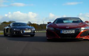 Συγκρίνοντας, Audi R8 V10 Plus, Honda NSX, sygkrinontas, Audi R8 V10 Plus, Honda NSX