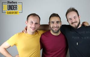 Τρεις Έλληνες, Forbes 30 Under 30, treis ellines, Forbes 30 Under 30