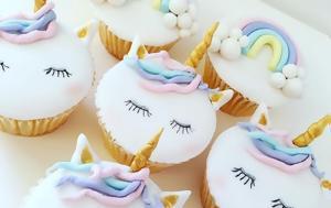 Τα unicorn cupcakes θα σου θυμίσουν την μαγεία των παραμυθιών