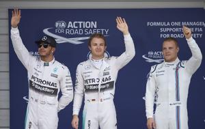 Hamilton-Bottas, Rosberg