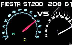 Ford Fiesta ST200 Vs Peugeot 208 GTI, 0-200