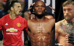 O Ibrahimovic, McGregor, Mayweather