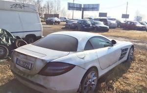 Εγκαταλελειμμένη Mercedes-Benz SLR McLaren, egkataleleimmeni Mercedes-Benz SLR McLaren