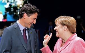 Merkel, Trudeau, Photo