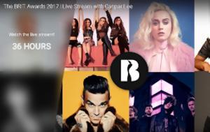 Βρετανικά Μουσικά Βραβεία BRIT, YouTube, vretanika mousika vraveia BRIT, YouTube