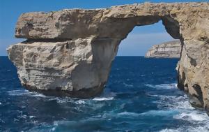 Κατέρρευσε, Γαλάζιο Παράθυρο, Μάλτας, katerrefse, galazio parathyro, maltas