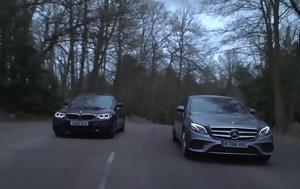 BMW 530d, Mercedes E 350d