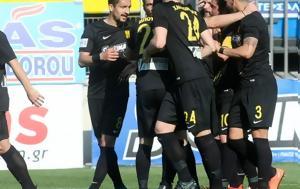 Aris, Lamia, Football League, -half
