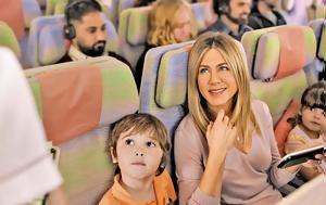 Jennifer Aniston, Emirates Airlines, 'Ποιος, Jennifer Aniston, Emirates Airlines, 'poios