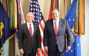 Συνάντηση Καμμένου, Αμερικανό Υπ, Άμυνας James Mattis, synantisi kammenou, amerikano yp, amynas James Mattis