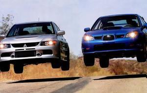 ΜΑΧΗ, ΑΙΩΝΑ Mitsubishi Lancer EVO, Subaru Impreza, machi, aiona Mitsubishi Lancer EVO, Subaru Impreza