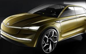 Skoda Vision E Concept, Ηλεκτρικό SUV, Skoda Vision E Concept, ilektriko SUV