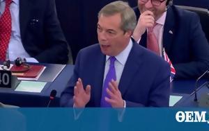 Nigel Farage, European Parliament, 'behaving, Brexit VIDEO