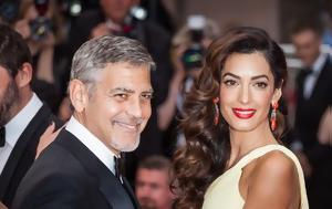 George, Amal Clooney, Χάρισαν 35 000, Ελλάδα, George, Amal Clooney, charisan 35 000, ellada