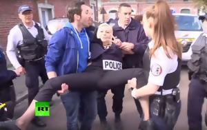 Femen, Λεπέν, Γυμνόστηθες, -vid, Femen, lepen, gymnostithes, -vid