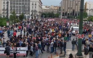Χιλιάδες, Αθήνας - Διαμαρτύρονται, chiliades, athinas - diamartyrontai