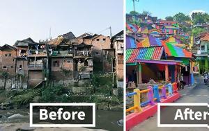 Πως μια παραγκούπολη μεταμορφώθηκε σε πολύχρωμο χωριό