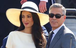 George Clooney, Γεννάει, Amal Alamuddin, George Clooney, gennaei, Amal Alamuddin