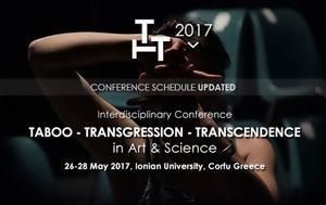 Κέρκυρα, Συνέδριο Ταμπού – Παράβαση – Υπέρβαση, Τέχνη, Επιστήμη, kerkyra, synedrio tabou – paravasi – ypervasi, techni, epistimi