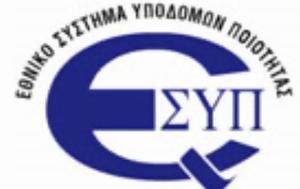Επικείμενη, Εθνικού Συστήματος Υποδομών Ποιότητας ΕΣΥΠ, epikeimeni, ethnikou systimatos ypodomon poiotitas esyp