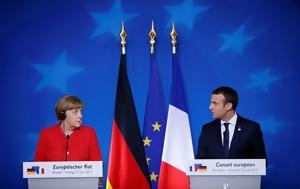 Macron Merkel, Greek