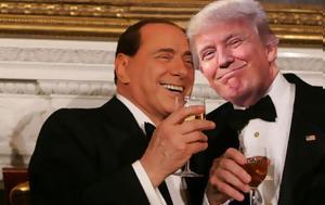 Berlusconi, Αυτό, Trump …, Berlusconi, afto, Trump …