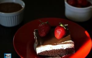 Η κορυφαία τούρτα ταψιού με κρέμα και σοκολάτα