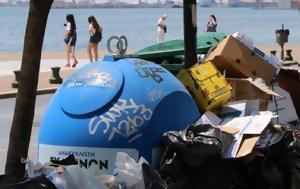 Σε οριακή κατάσταση η χώρα με σκουπίδια και ζέστη