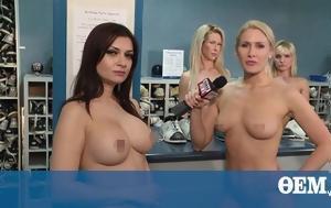 Stunning Naked News, RACY VIDEO-PHOTOS