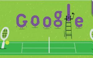 Τουρνουά, Γουίμπλεντον, Doodle, Google, 140, tournoua, gouiblenton, Doodle, Google, 140