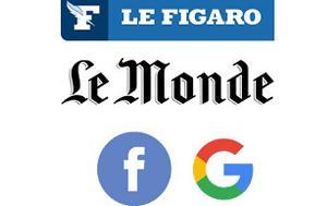 Συμμαχία Le Figaro, Le Monde, Facebook, Google, symmachia Le Figaro, Le Monde, Facebook, Google