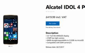 Διαθέσιμο, Alcatel Idol 4 Pro, diathesimo, Alcatel Idol 4 Pro