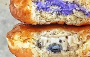 Τα γεμιστά ντόνατ με παγωτό είναι το γλυκό που θα μας βοηθήσει να ξεπεράσουμε τη ζέστη