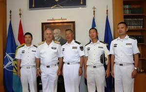 Συνάντηση Αρχηγού ΓΕΕΘΑ, Αξιωματικούς Πολεμικού Ναυτικού, Κίνας, synantisi archigou geetha, axiomatikous polemikou naftikou, kinas