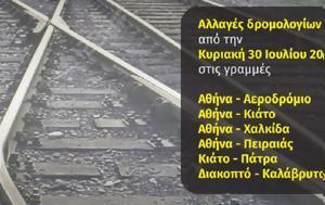 Αλλαγές, ΤΡΑΙΝΟΣE, 30 Ιουλίου, allages, trainosE, 30 iouliou