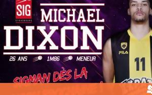 Mike Dixon, AEK BC, SIG Strasbourg