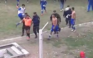 Η φρικιαστική στιγμή που ποδοσφαιριστής κλωτσά στο πρόσωπο διαιτητή (video)