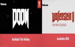 DOOM, Wolfenstein 2, Nintendo Switch